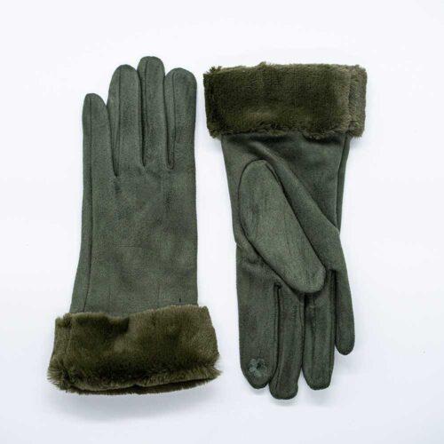γάντια χακί