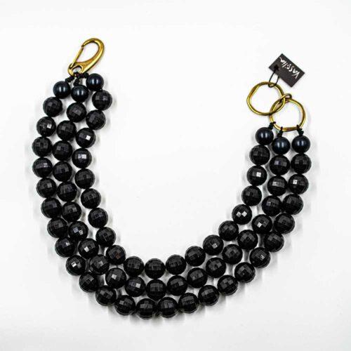 Κολιέ Black pearls Vassilia