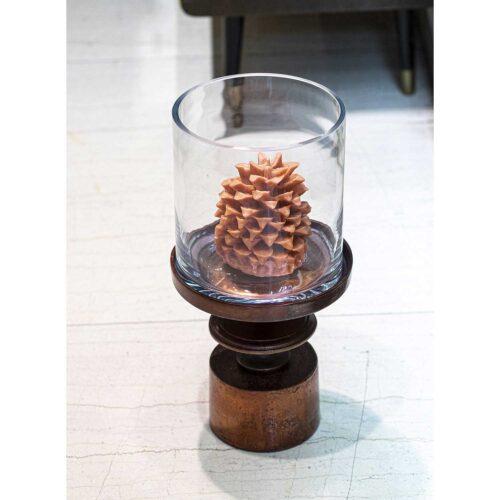 Κηροπήγιο-βάζο brown bronze